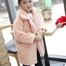 2018 baby autumn winter waistcoat childrens girls artificial rabbit fur coat kids faux fur fabric zipper