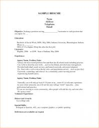 First Job Resume Examples Pdf Augustais