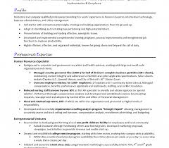 Resume Samplentry Level Human Resources Generalist Cover Letter