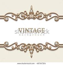 Vintage Background with Golden Border Royalty Free Vector Clip Art