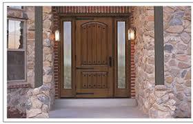 exterior fiberglass doors. Interesting Exterior Staingrade Rusticstyle Exterior Fiberglass Door With Sidelights To Exterior Fiberglass Doors H