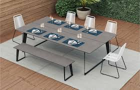 wood outdoor dining sets modern outdoor ideas medium size person outdoor dining set awesome tables luxury cast aluminum sets round