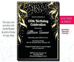 60th Birthday Party Invitations Zoli Koze