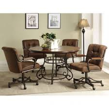 dining chairs wheels best of artistic rolling dining room chairs casters for harian metro of dining