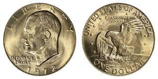 1972 Eisenhower Dollar Value Chart 1972 D Eisenhower Dollar Coin Value Prices Photos Info