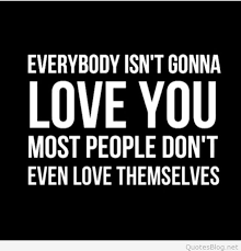 Everybody Isn`t Gonna Love You Quote Quotes Pinterest Quotes Custom Quick I Love You Quotes
