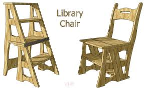 library chair ladder