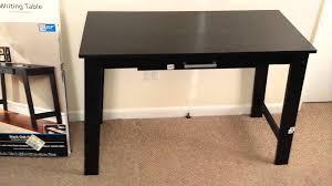 black writing desk. Mainstays Writing Table From Wallmart Black Desk