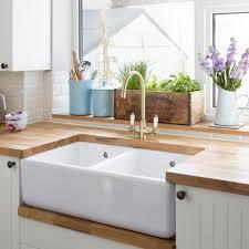 kitchen worktop wood sink