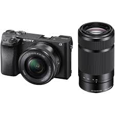 sony a6300. sony alpha a6300 mirrorless digital camera with 16-50mm and 55-210mm lenses kit