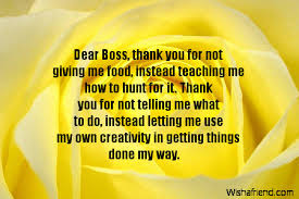 Thank You Notes For Boss