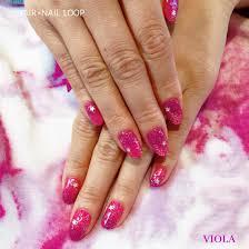 ピンクとパープルの逆グラデーション スターメタルがポイントviola