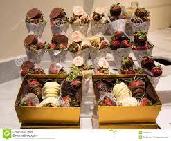 milk and dark chocolate dipped strawberries by iva on display in las vegas iva