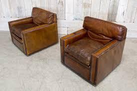 leather club chairs vintage. PAIR OF VINTAGE STUDDED LEATHER CLUB CHAIRS Leather Club Chairs Vintage
