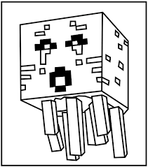 Minecraft Ghast Coloring Kids