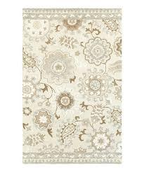 ivory gray fl damask wool rug