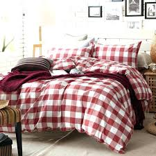plaid bedding sets plaid bedding queen red and white plaid duvet cover set for single or