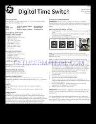 ge digital time switch wiring diagram wiring diagram and hernes ge light timer switch image about wiring diagram