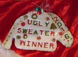 the office christmas ornaments. Ugly Sweater Contest Winner Christmas Ornament 2016 Party Award For The Awful Office Ornaments