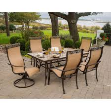 aluminum sling patio furniture. Patio Furniture Dining Sets Monaco Piece Set Outdoor Living Cast Aluminum Sling Hand Laid Porcelain Tiles Natural Durable Stone Front Porch Best Price Home