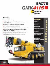 Grove 165 Ton Crane Load Chart Grove Gmk 4115 Bay Crane News Manualzz Com