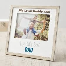 personalised world s best dad photo frame