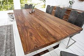 DuNord Design Esstisch Holz Massiv Sheesham Massivholz Tisch Esszimmer  Holztisch 200cm MAPIRI