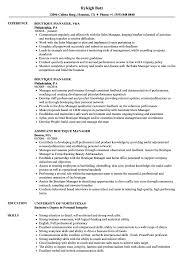 Boutique Owner Resume Boutique Manager Resume Samples Velvet Jobs