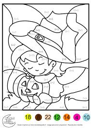 Coloriage Magique Enfant Addition Jpg 2480 3508 Coloriage Magique Halloween Cp L