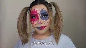 tiktok clown check makeup tutorial