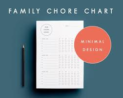 Family Chore Chart House Cleaning Chore Printable Chore Schedule