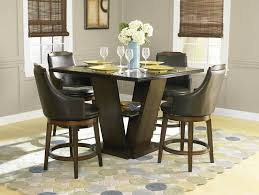 dining room table with swivel chairs. dining room, room set with swivel chairs modern black theme table k