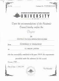 university degree certificate sample algol business systems pvt ltd