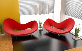 Living Room Movie Theater Ideas With Red Square Pattern Carpet Contemporary Red Chair