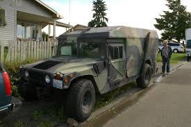 OLD PARKED CARS.: 1987 AM General Humvee Ambulance.