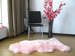 pale pink sheepskin rug rugs ideas