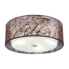 contemporary drum lighting. coffee color four led bulb lighted modern flush mount lighting ceiling fixture interior dry drum shade contemporary i