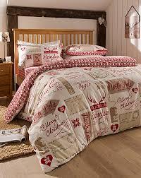 North Pole Reversible Brushed Cotton Christmas Bedding Bundle