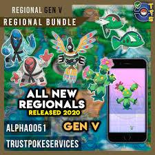 Pokemon Go Regional Bundle: All Regionals Released Jan 2020 - Gen V: Unova  - Trust Poke Services