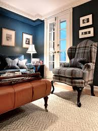 Plaid Curtains For Living Room Photos Hgtv Blue Living Room With Plaid Chair Loversiq