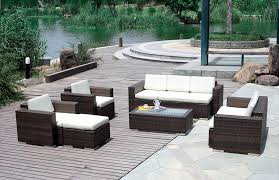 outdoor white wicker furniture nice. Dark Brown And White Rectangle Modern Rattan Patio Sets For Sale Stained Ideas Patios On Outdoor Wicker Furniture Nice