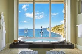spending hours in this elegant bath is a no brainer and early risers will
