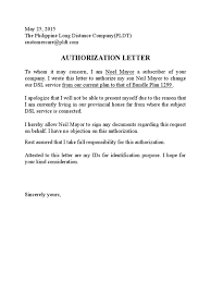 to whom it may concern sample letter authorization letter format to whom it may concern new authorization