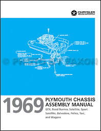plymouth gtx service manuals shop owner maintenance and repair 1969 plymouth chassis assembly manual satellite gtx road runner belvedere