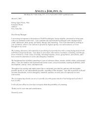 Clinical Psychology Internship Cover Letter Sample Cover Letter