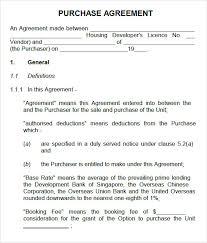 Purchase Agreement Vehicle Printable Vehicle Purchase Agreement 16 Sample Vehicle Purchase