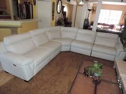 natuzzi julius 5pc triple electric reclining optic white leather sectional sofa natuzzi modern