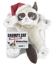 grumpy cat christmas hat. Fine Grumpy Grumpy Cat 10u201d Window Cling With Santa Hat On Christmas