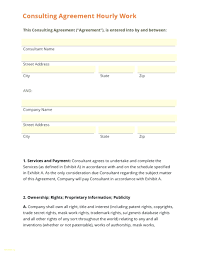 Consulting Agreement Sample In Word template Consultant Agreement Template 1