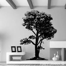 oak tree silhouette wall sticker wallart studios